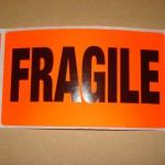 Fragile Labels 10 Pack
