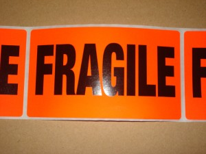 Fragile Labels 10 Pack